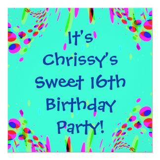 Sweet 16th Birthday Party Invitation