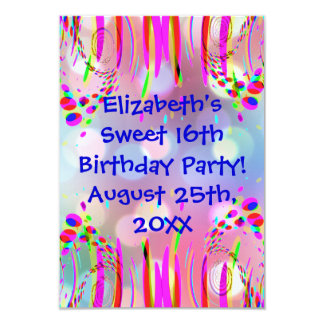 Sweet 16th Or Any Age Birthday Party Invitation