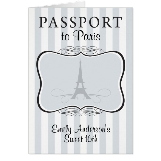 Sweet 16th Passport Invitation