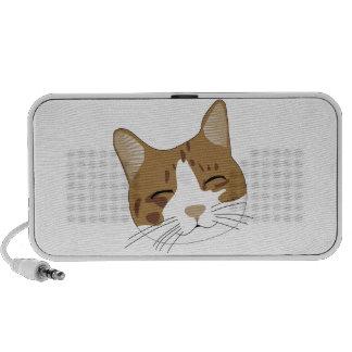sweet, a happy cat cat iPod speakers