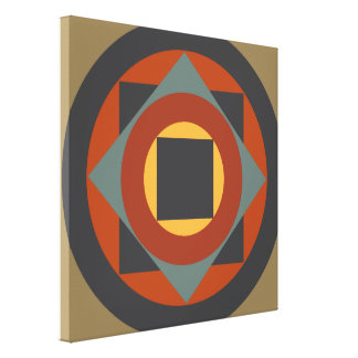 Sweet Abstract Orange Design Gallery Wrapped Canvas