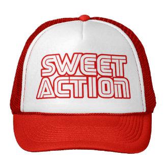 Sweet Action College Retro 80s Humor Mesh Hats