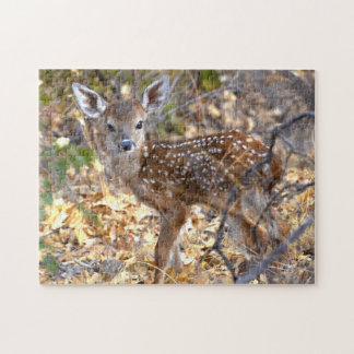 Sweet and Adorable Baby Deer / Fawn Photo Puzzle