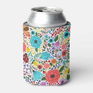 Sweet and Colorful  Floral Ditsy Can Cooler