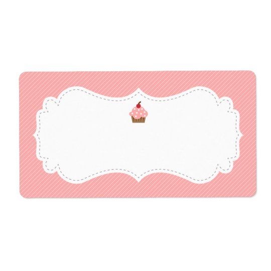 Sweet and Elegant Pink Cupcake Label