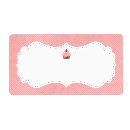 Sweet and Elegant Pink Cupcake Label Shipping Label