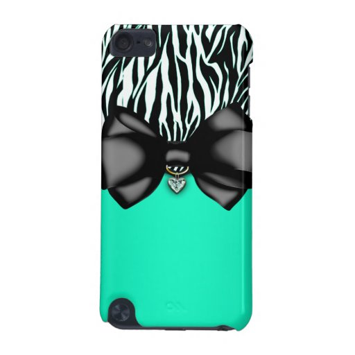 Sweet and Sassy Bowed Zebra  iPod Touch (5th Generation) Cases