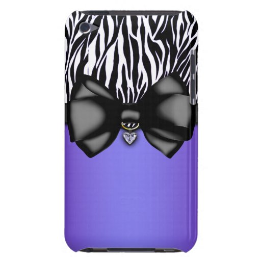 Sweet and Sassy Bowed Zebra Print Case iPod Touch Case
