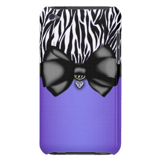 Sweet and Sassy Bowed Zebra Print Case iPod Case-Mate Case