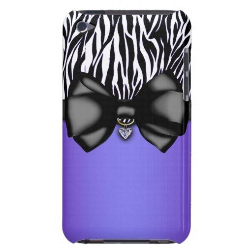 Sweet and Sassy Bowed Zebra Print Case iPod Case-Mate Case