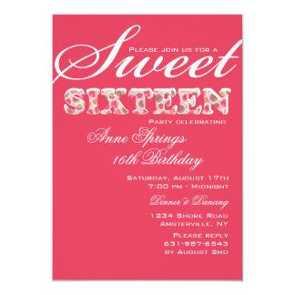Sweet and Sassy Sixteenth Birthday Invitation