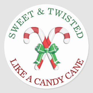 Sweet and Twisted like a Candy Cane Sticker