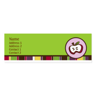 Sweet Apple Profile Card Pack Of Skinny Business Cards