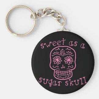 Sweet as a Sugar Skull Basic Round Button Key Ring