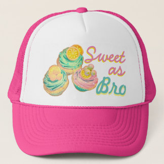 sweet as bro cupcake hat