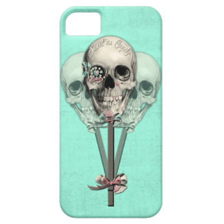 Sweet as Candy Lollipop skulls in mint iPhone 5 Cases