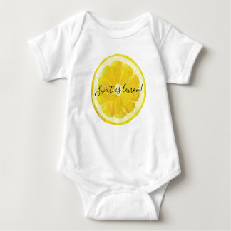 Sweet as lemon funny modern baby bodysuit. baby bodysuit
