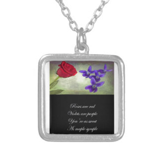 Sweet as Maple Syruple Silver Plated Necklace