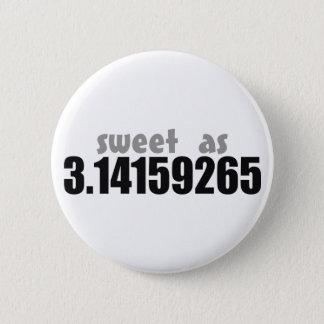 Sweet as Pi 6 Cm Round Badge