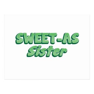 SWEET as Sister (ladies Cool story Bro) KIWI funny Postcard