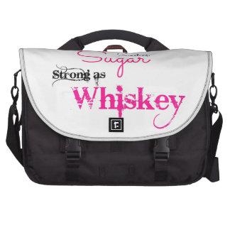 Sweet As Sugar, Strong As Whiskey Laptop Messenger Bag