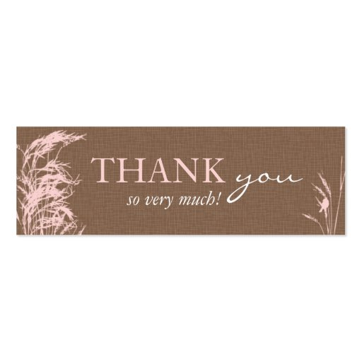 Sweet Autumn Bride Skinny Gift Tag Business Cards