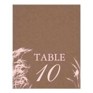 Sweet Autumn Bride Table Card 2
