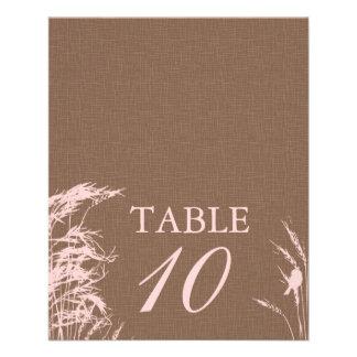 Sweet Autumn Bride Table Card 2 11.5 Cm X 14 Cm Flyer