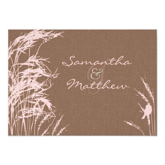 Sweet Autumn Bride Wedding Invitation Card
