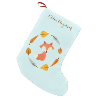 Sweet Autumn Fox Small Christmas Stocking