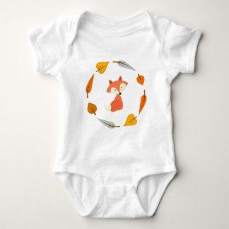 Sweet Autumn Leaves Fox Baby Bodysuit