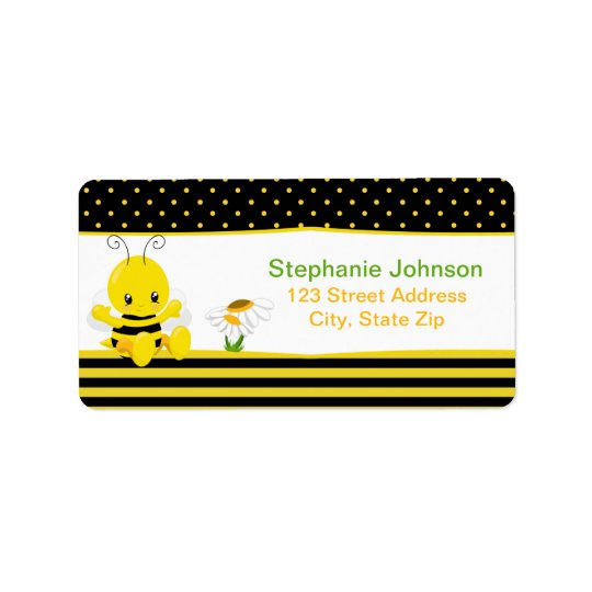 Sweet Baby Bee Address Labels