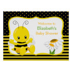 Sweet Baby Bee Baby Shower Poster