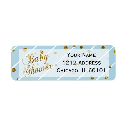 Sweet Baby Boy  Blue and Gold Confetti