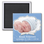 Sweet Baby Boy Photo Birth Announcement Magnets