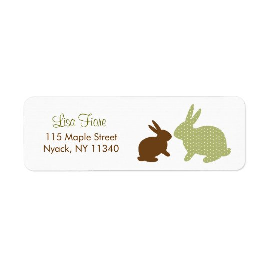 Sweet Baby Bunny Green Address Labels