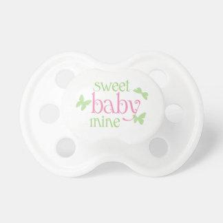 Sweet Baby Butterflies Pink Green Pacifier
