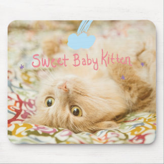 Sweet Baby Cat Mouse Pad