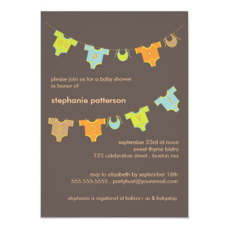 Sweet Baby Clothes LIne It's a Boy Baby Shower Card