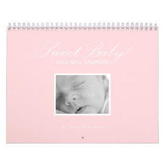 Sweet Baby Custom Wall Calendar - Pink