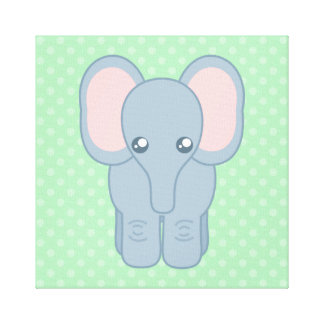 Sweet Baby Elephant Gallery Wrapped Canvas