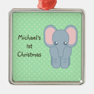 Sweet Baby Elephant Christmas Ornament