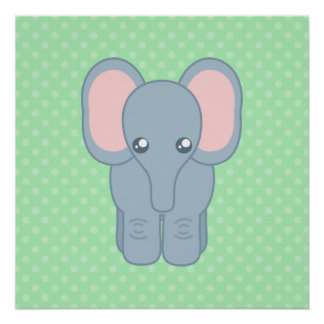 Sweet Baby Elephant Poster