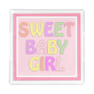 Sweet Baby Girl Acrylic Tray