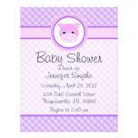 Sweet Baby Hippo Purple Baby Shower Invitations