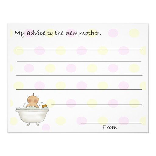 Sweet Baby Shower Advice Cards Invites
