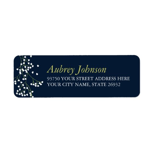 Sweet Baby's Breath Return Address Labels