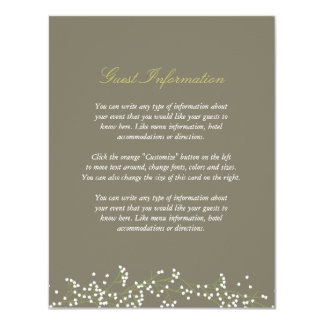 Sweet Baby's Breath Wedding Insert Card Announcements