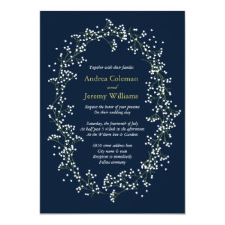 Shop Zazzle's selection of navy blue wedding invitations for your special day!