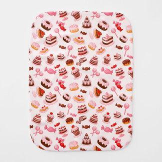Sweet background burp cloths